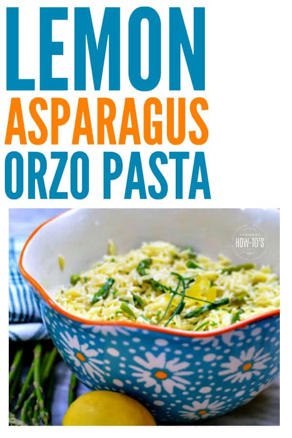 Lemon Asparagus Orzo Pasta Recipe - Simple and fresh ingredients give this a easy side dish a delicious flavor