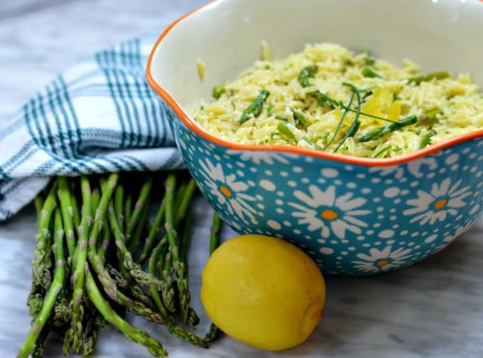 Lemon Asparagus Orzo is a fresh-tasting side dish that brings color to the table