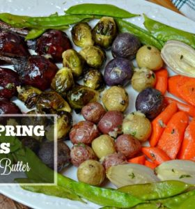 Roasted Spring Vegetables Recipe with Garlic Thyme Butter