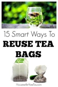 15 Smart Ways To Reuse Tea Bags
