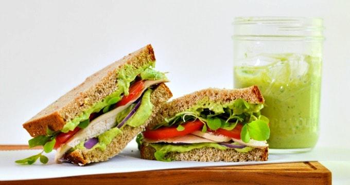 Creamy Avocado Garlic Herb Dressing is also a fantastic spread on sandwiches