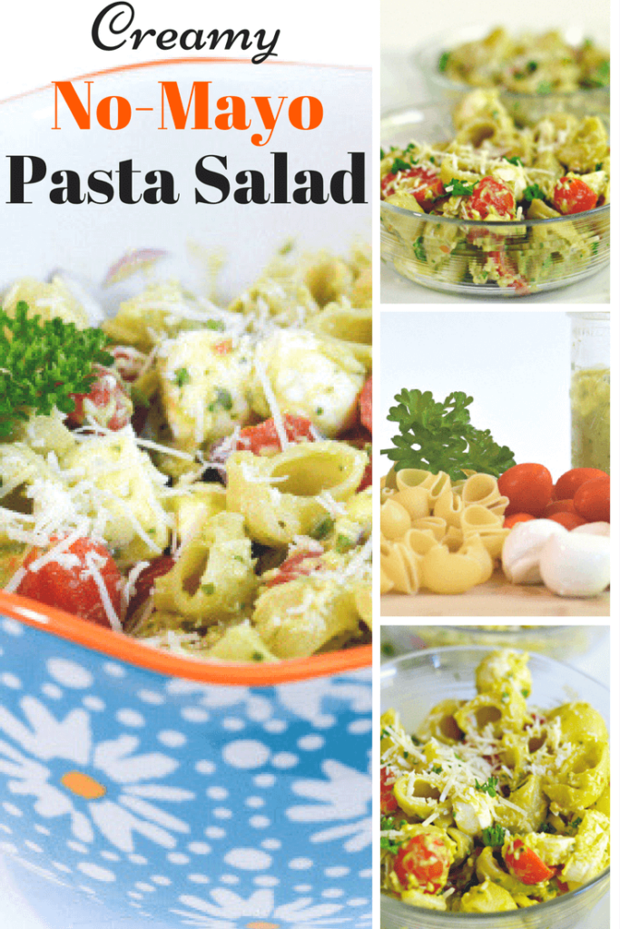 Creamy No-Mayo Pasta Salad - Perfect for picnics and summer get togethers. This is SO good!