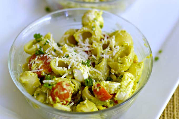 Creamy No-Mayo Pasta Salad - Serve chilled or at room temperature