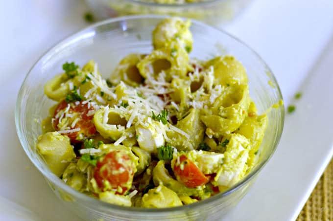 Creamy No-Mayo Pasta Salad - Serve chilled or at room temperature