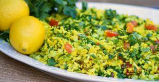 Tabbouleh-Style Turmeric Cauliflower Salad
