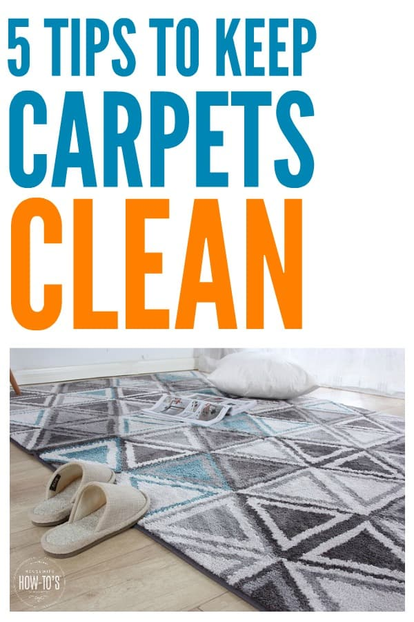 5 Tips to Keep Carpets Clean - Kids and pets can make awful messes on the carpet. Here's how to keep them clean even in a busy house like yours. #carpeting #carpetcare #cleaning #deepcleaning #cleaningadvice #cleaningtips #flooringcare
