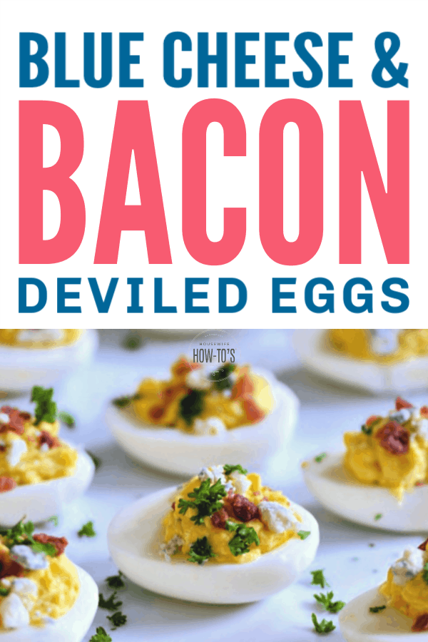 Bacon Blue Cheese Deviled Eggs - A bold twist on a beloved appetizer
