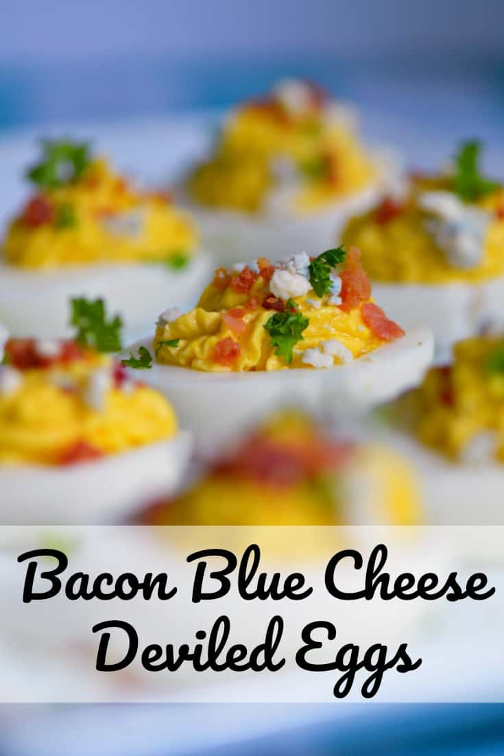 Bacon Blue Cheese Deviled Eggs are a delicious twist on an old favorite