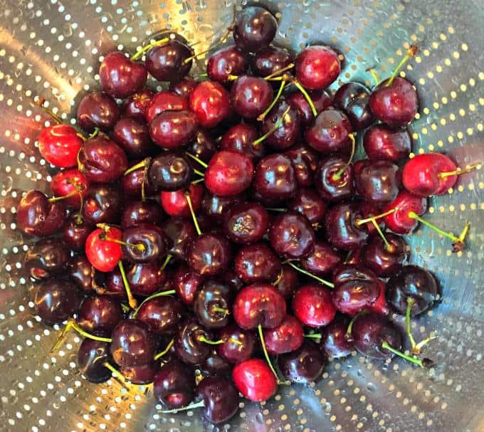 Bings work best in Boozy Fresh Cherry Lemonade