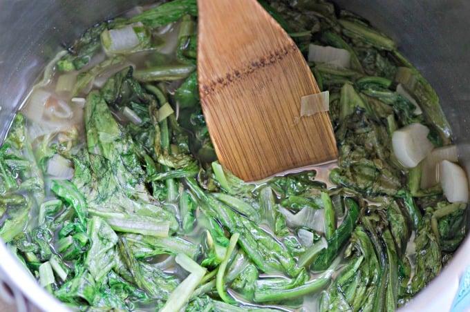 Lettuce Soup Recipe - Continue cooking until soft about five minutes