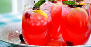 Boozy Fresh Cherry Lemonade