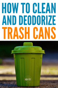 How to Clean Trash Cans and Deodorize them Naturally #cleaning #odorcontrol #housewifehowtos