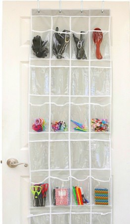 Back-to-School Organizing Tips - Use a shoe rack for Command Central