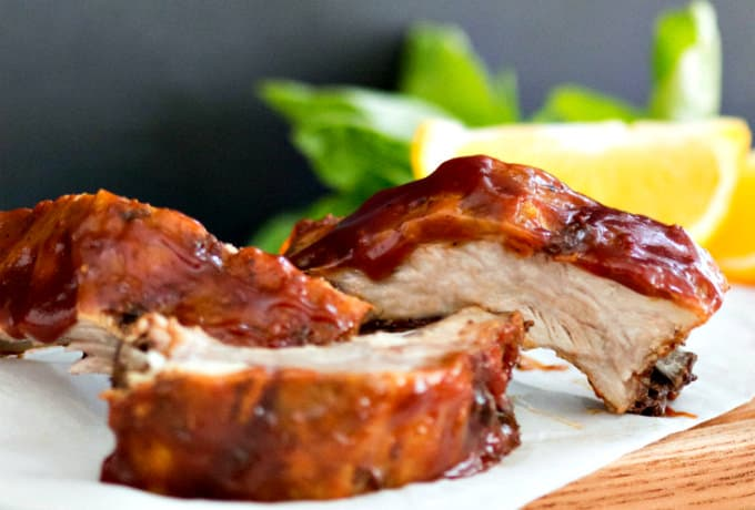 Sweet Orange Basil BBQ Sauce Ribs A thick and sweetly spicy homemade sauce on ribs you grill or bake in the oven