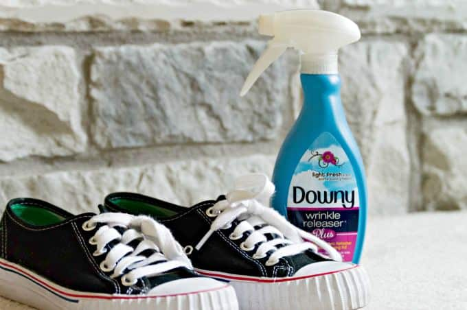17 Clever Ways to use Downy Wrinkle Releaser Plus - Freshen smelly shoes