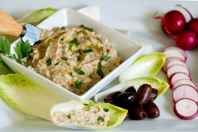 Baba Ganoush Recipe - A simple and delicious eggplant dip using the oven or grill