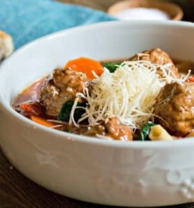 Easy Italian Meatball Soup Recipe