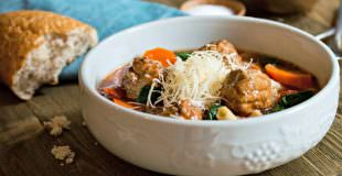 Easy Italian Meatball Soup Recipe