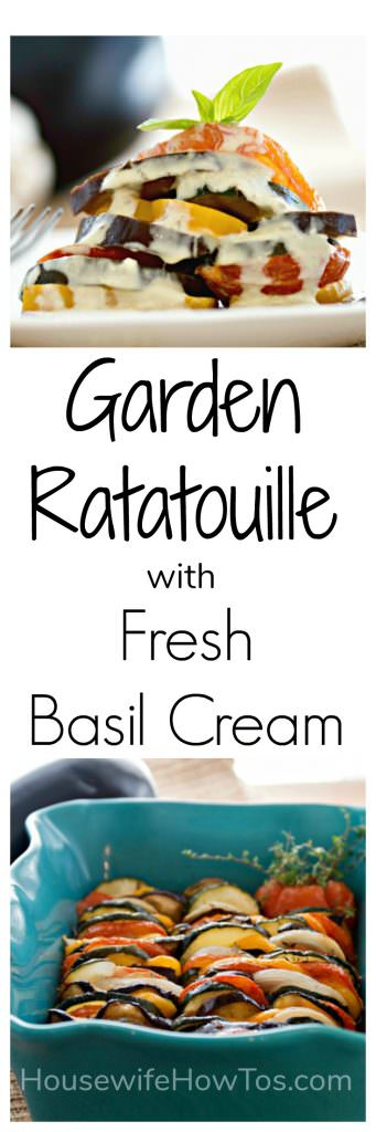Garden Ratatouille with Fresh Basil Cream This is such a stunning dish with a gourmet taste that impresses company.