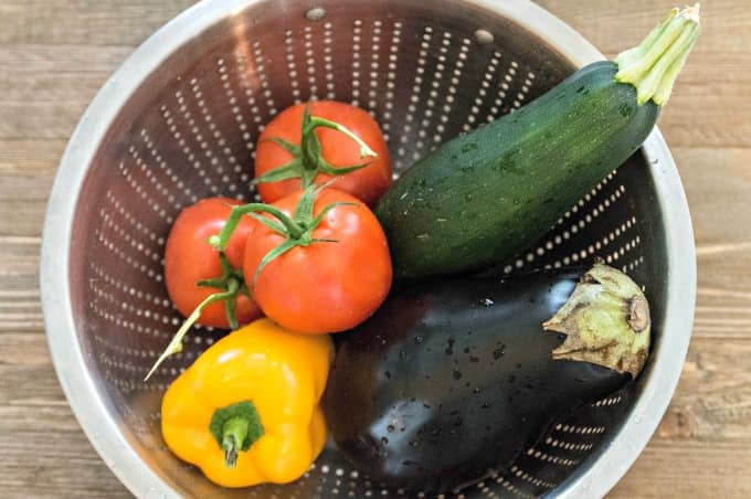 Ratatouille with Fresh Basil Cream Recipe - Start with fresh vegetables