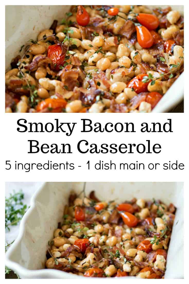 Smoky Bacon and Bean Casserole A simple 5-dish recipe that can be made in one dish and served as a main or hearty side