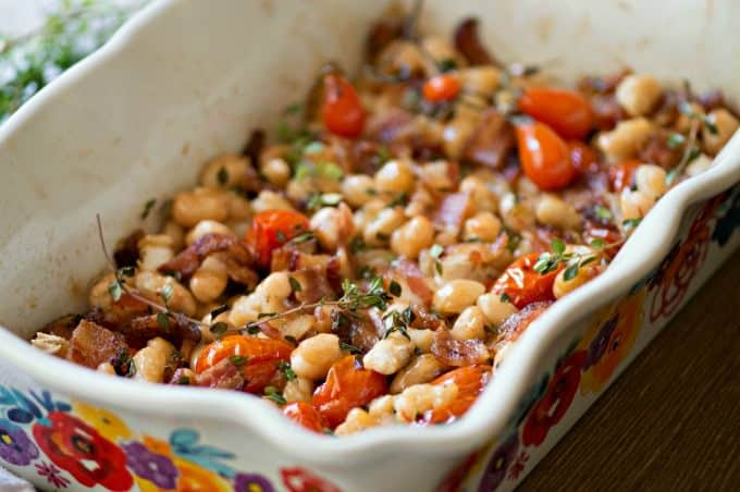 Smoky Bacon and Bean Casserole Recipe - Make this as a main dish or a hearty side