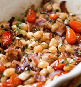 Smoky Bacon and Bean Casserole - Use any kind of white bean to make this your own