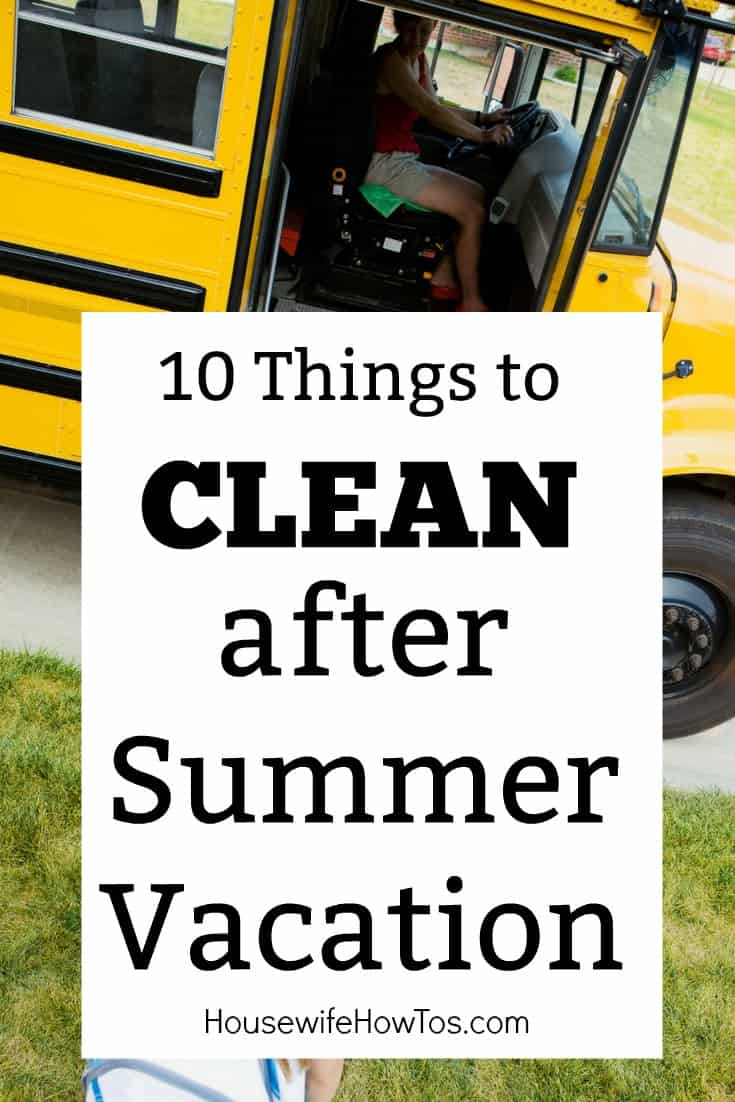 Things to Clean After Summer Vacation Tend to these 10 things to get your house ready for fall #cleaningroutine