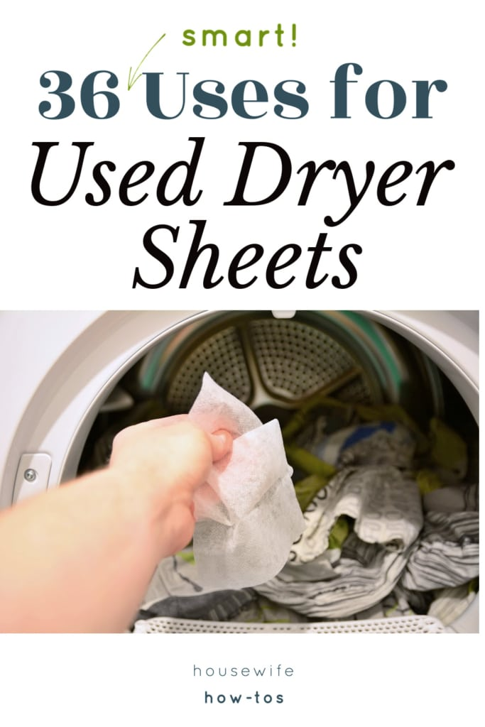 36 Uses for Used Dryer Sheets Around the House