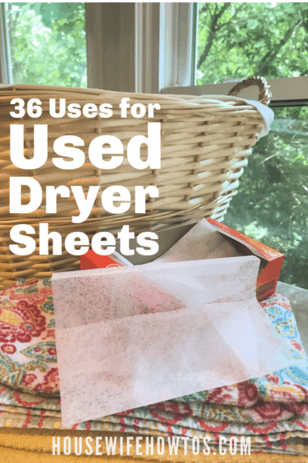 36 Uses for Used Dryer Sheets