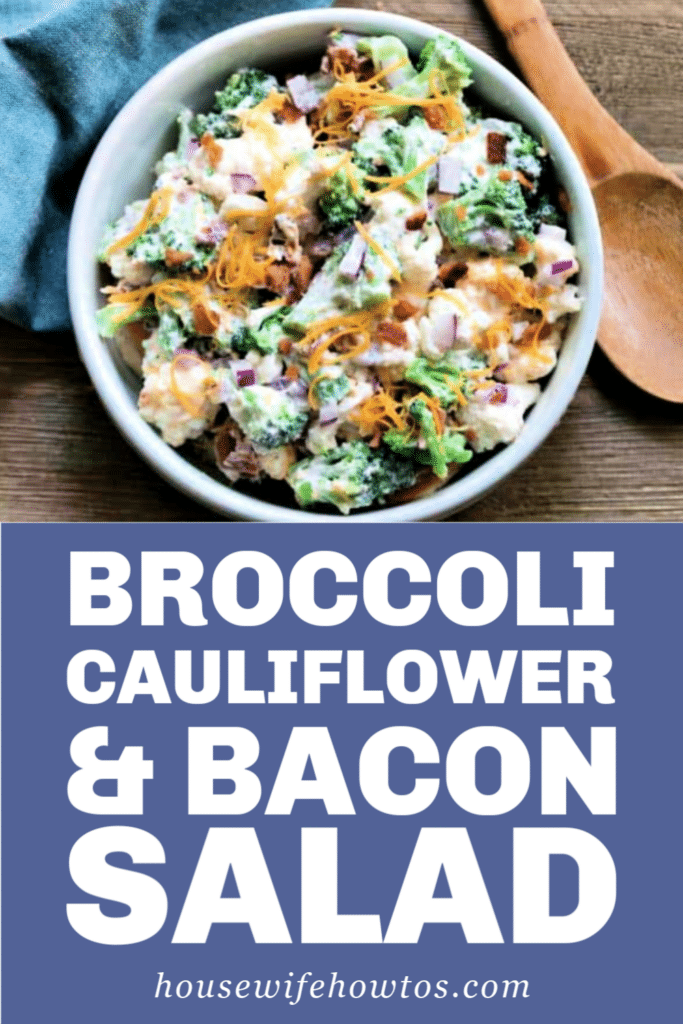 Broccoli Cauliflower and Bacon Salad Recipe