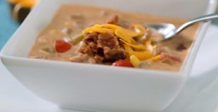 Hearty Crockpot Bacon Cheeseburger Soup