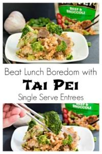 Beat Lunch Boredom with Tai Pei Single Serve Entrees #ad