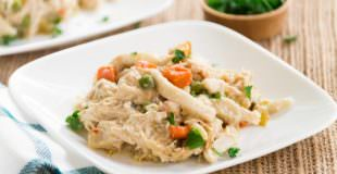 Crockpot Creamy Chicken Noodles