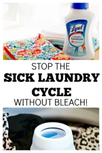 Stop the Sick Laundry Cycle without Bleach but keep your money-saving cold water wash
