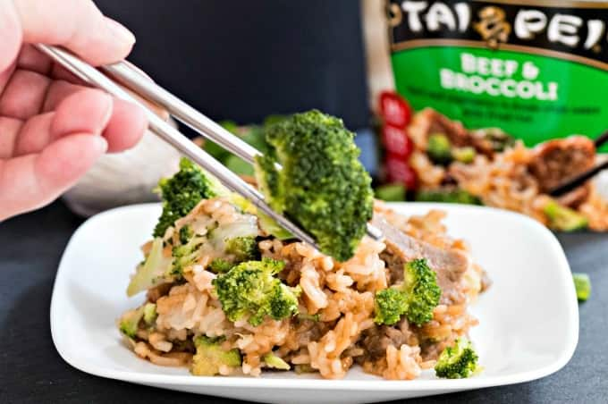 Beat Lunch Boredom with Tai Pei Beef and Broccoli Single Serve Entree - Pure ingredients with no preservatives
