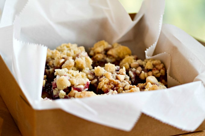 Raspberry White Chocolate Cookie Bars - Brighten someone's holiday with a baked gift