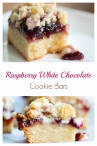 Raspberry White Chocolate Cookie Bars Recipe #cookies #cookiebar #baking #recipe #bakedgift #foodgift