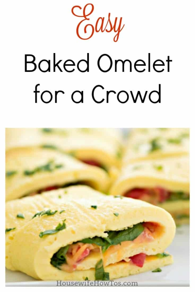 Easy Baked Omelet Recipe - Five minutes of prep and you are ready to serve your entire family a hot breakfast #easyrecipe #breakfastrecipe #eggs #omelet #omelette