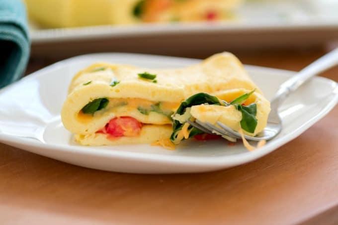 Easy Baked Omelet Recipe - Served
