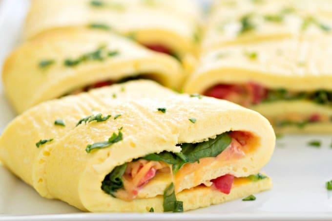 Easy Baked Omelet Roll