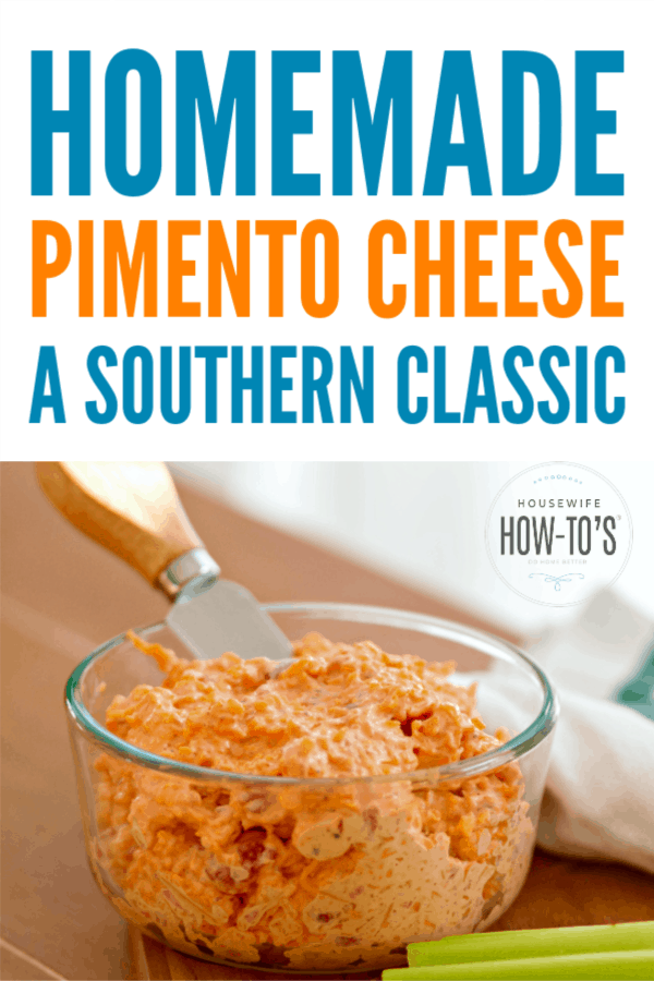 Homemade Pimento Cheese - A classic Southern appetizer dip or spread #appetizer #dip #sandwichfilling #pimentocheese #lowcarb #keto
