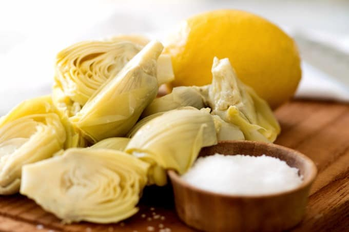 Homemade Marinated Artichoke Hearts Recipe ingredients