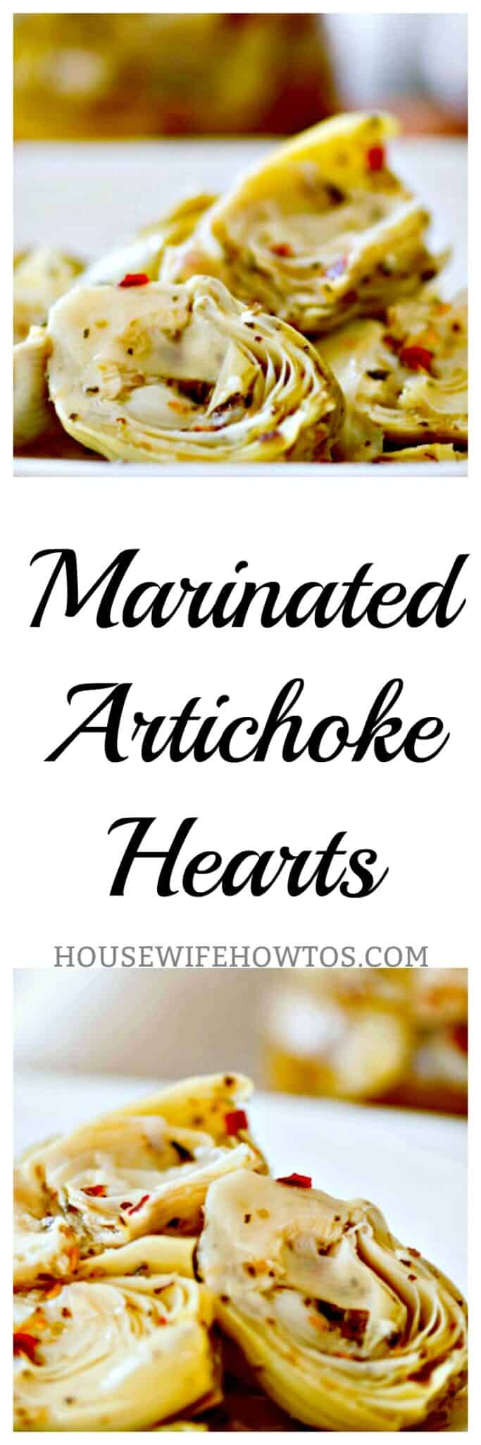 Homemade Marinated Artichoke Hearts Recipe - In 10 minutes you can make deliciously marinated artichokes at home that put the store-bought stuff to shame. They store for weeks in the refrigerator, too! #artichokehearts #artichokes #marinated #appetizer #condiment #pizzatopping #homemade