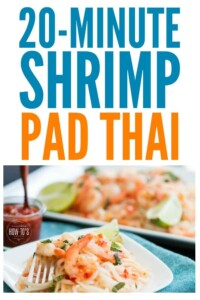 Shrimp Pad Thai is one of our favorite take-out meals but I don't like the price. This is even better AND I can make it faster than delivery. #padthai #shrimp #takeoutfakeout #noodles #thaifood #easydinnerrecipe