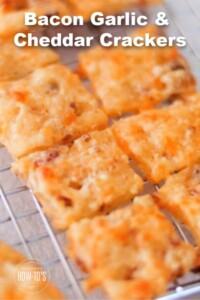 Bacon Garlic Cheddar Crackers Recipe