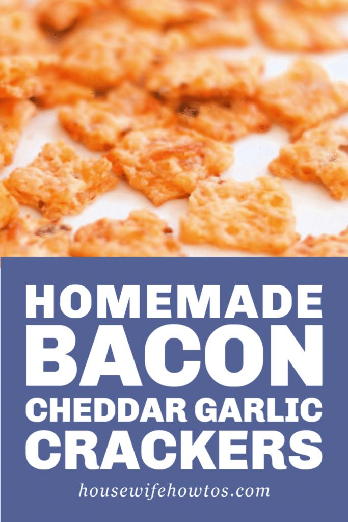Bacon Cheddar Garlic Crackers Recipe