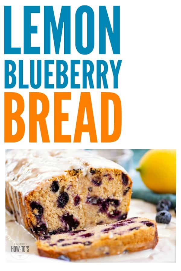 Whole Wheat Lemon Blueberry Bread is so delicious! I've made it with all-purpose flour instead of whole wheat and it's just as good. #lemonblueberrybread #bread #dessert #lemon #blueberry #baking #wholewheat
