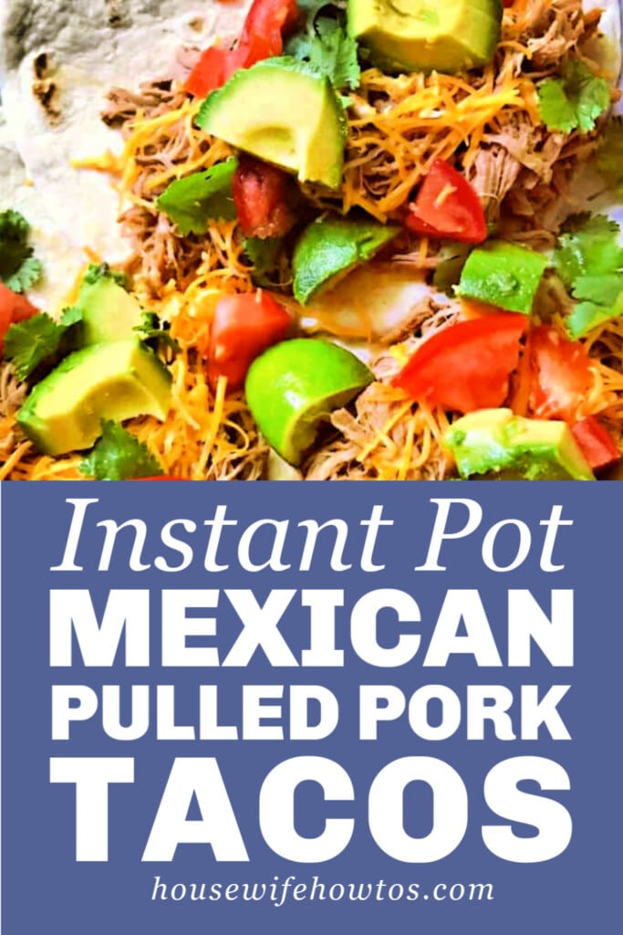 Instant Pot Mexican Pulled Pork Taco Recipe