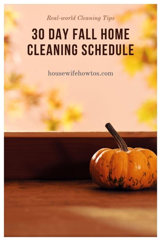 30-Day Fall Home Cleaning Schedule